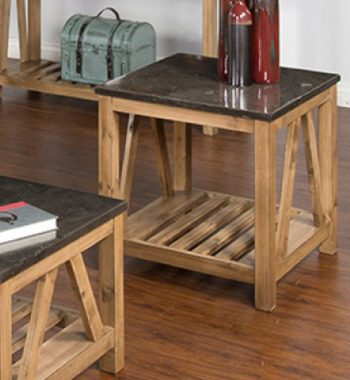 Blue Moon Stone End Table
