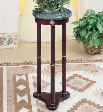 Green Round Marble Accent Table