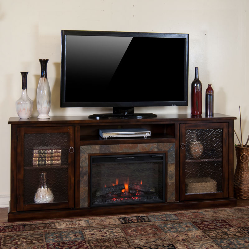 80 Best Online Furniture Stores: Santa Fe 80 Inch Fireplace Media Console