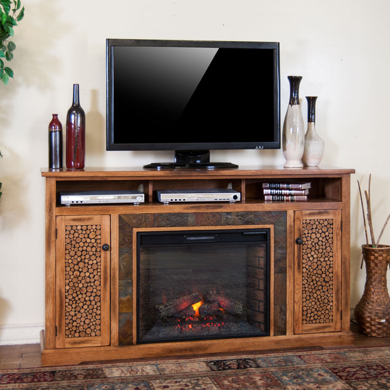 Sedona 66 Inch Fireplace Tv Console Barr S Furniture