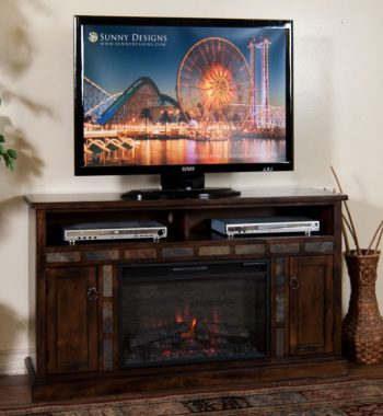 Santa Fe 54 Inch Fireplace TV Console