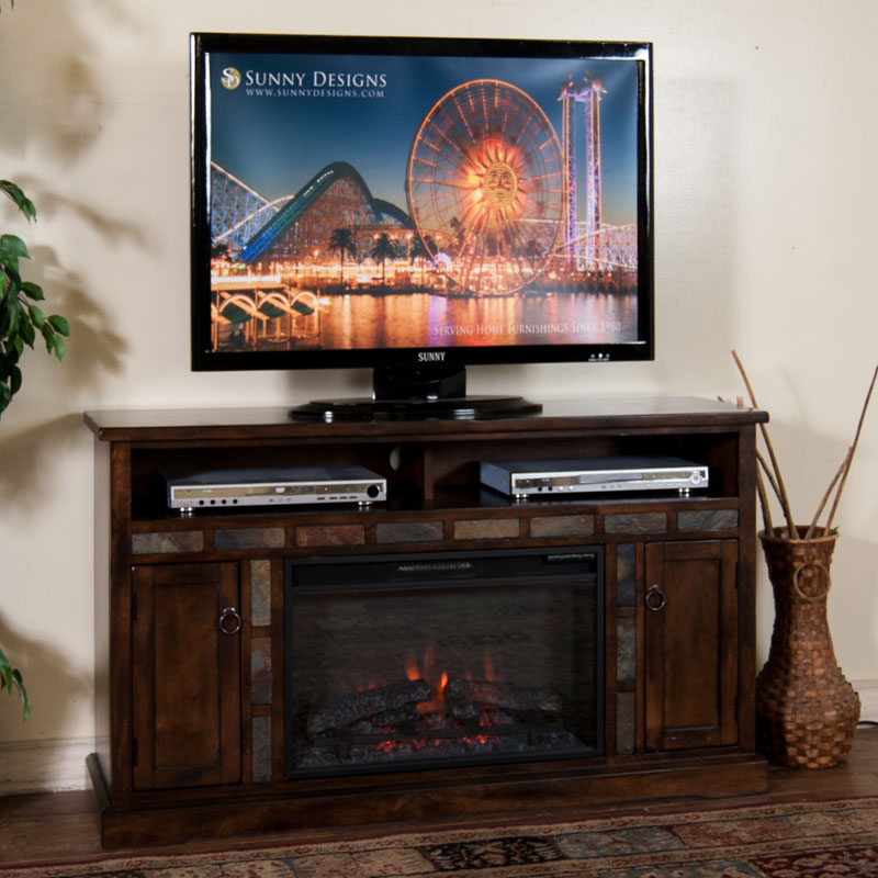 Santa Fe 54 Inch Fireplace Tv Console Barr S Furniture