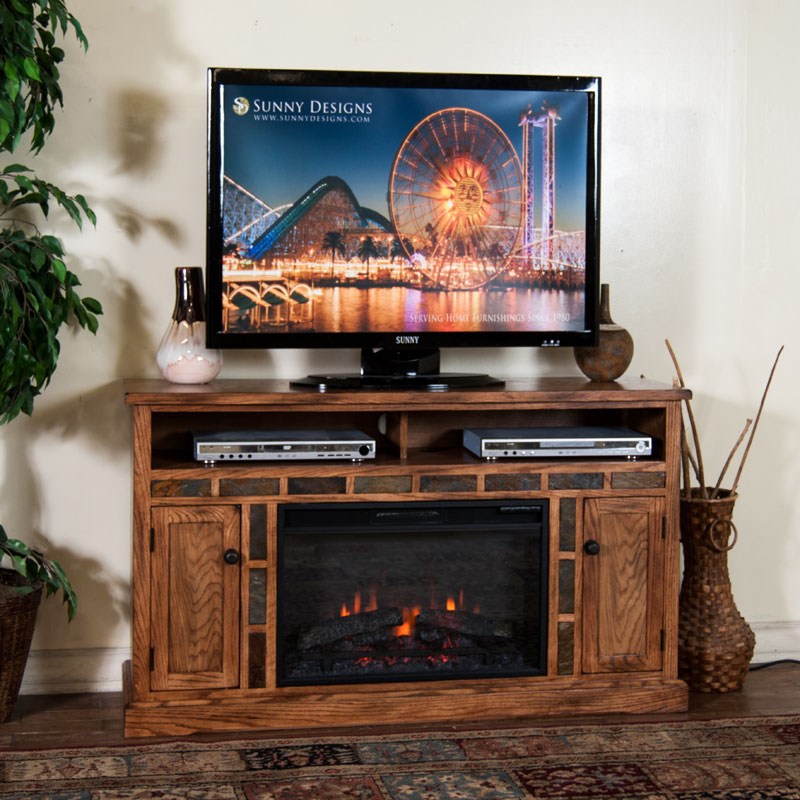 70 Best Online Furniture Stores: Sedona 54 Inch Fireplace TV Console