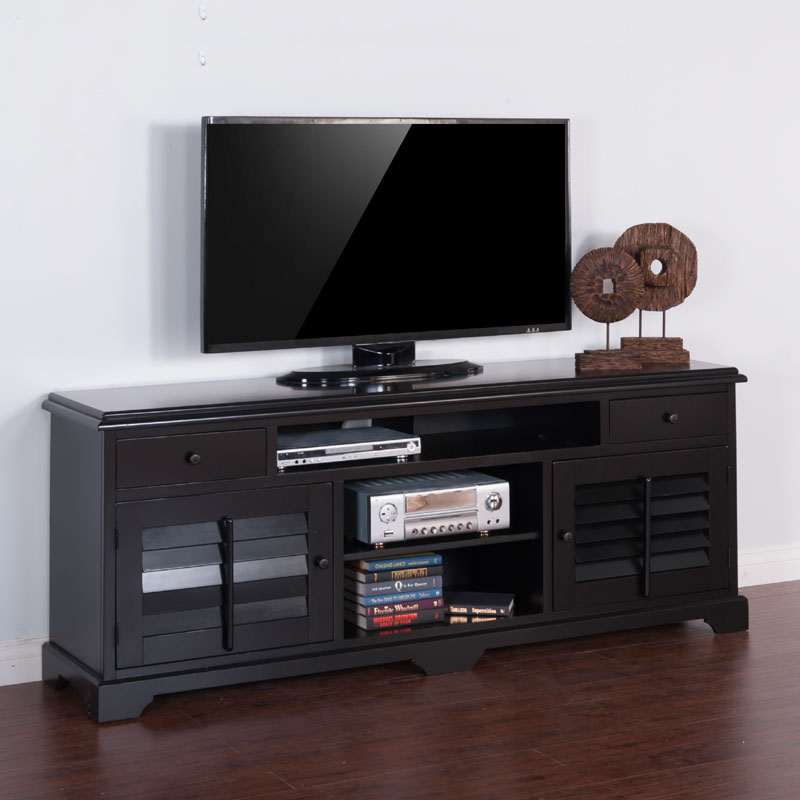 80 Best Online Furniture Stores: Black 78 Inch TV Console By Sunny Designs