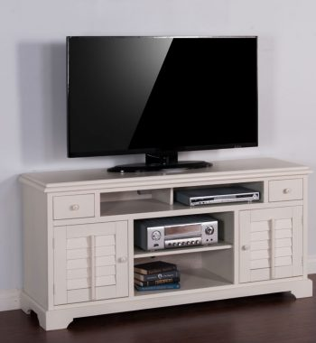 Vintage White 64 Inch TV Console