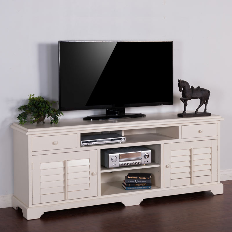 Vintage White 78 Inch Tv Console Barr S Furniture The