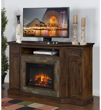 Santa Fe Fireplace TV Console