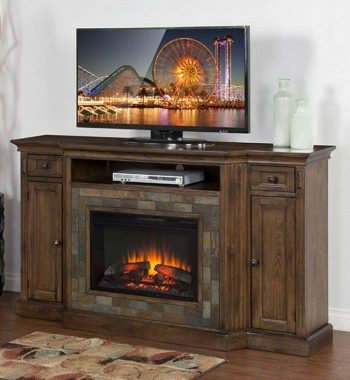 Savannah Fireplace TV Console