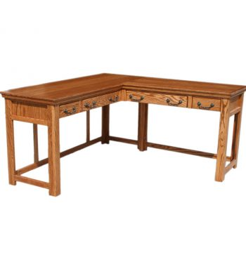 Traditional Oak Laptop Desk and Return