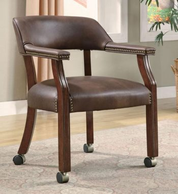 Traditional Vinyl Office Side Chair