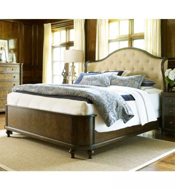 Barrington Farm Cal King Upholstered Shelter Bed