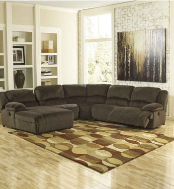 Toletta Chocolate 6 Piece Sectional