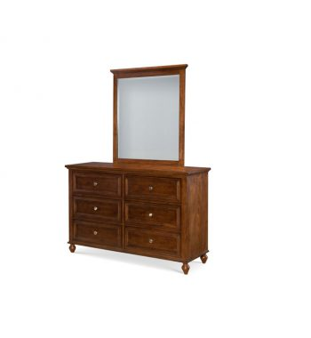 Academy Dresser and Mirror - Cinnamon