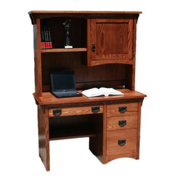 Mission oak Desk and Hutch