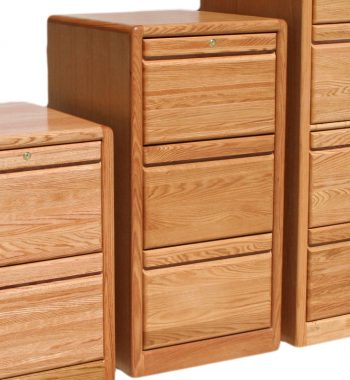 Modern Oak 3 Drawer File Cabinet