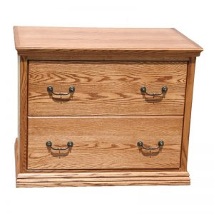 Traditional Oak 2 Drawer Lateral File Cabinet