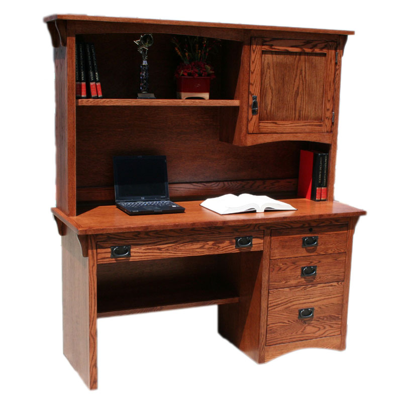 Mission Oak Desk And Hutch Barr S Furniture The Best
