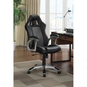 Black Office Chair with Lumbar Support
