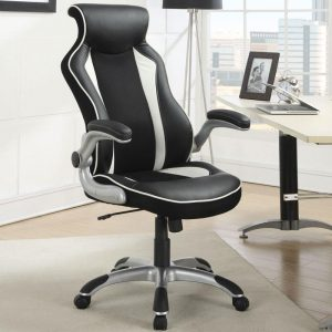 Modern Black and White Office Chair