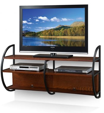 Mission Floating TV Console - Medium Oak