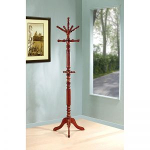 Tobacco Finish Rotating Coat Rack