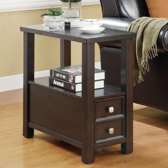 Cappuccino Chairside Table