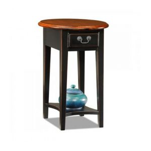 Oval Side Table Two Tone