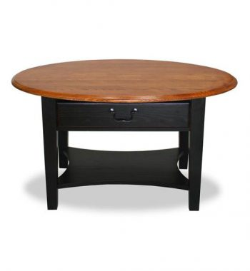 Shaker Oval Coffee Table Two Tone