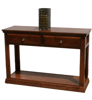 Traditional Alder Sofa Table