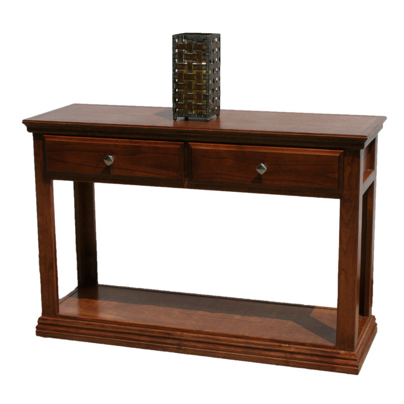 Best Online Sofa Store: Traditional Alder Sofa Table