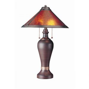 Mission Style Bronze Lamp