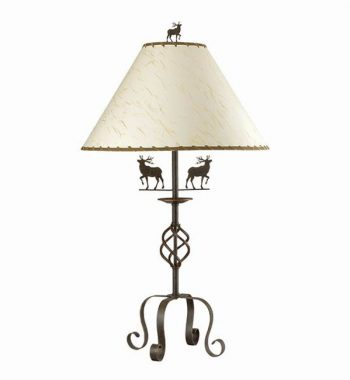 Decorative Wrought Iron Lamp