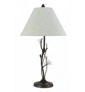 Wrought Iron Pine Twig Lamp