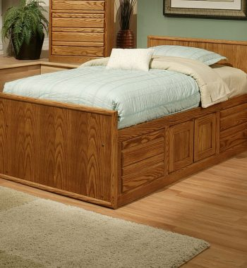 Modern Oak Twin Chest Bed
