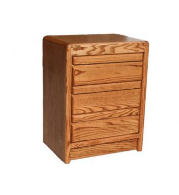 Modern Oak 3 Drawer Night Stand