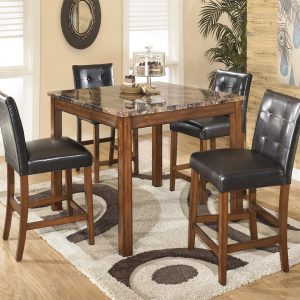 Theo Tall Square Counter Table Set