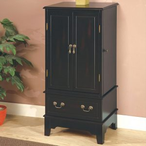 Black Storage Jewelry Armoire