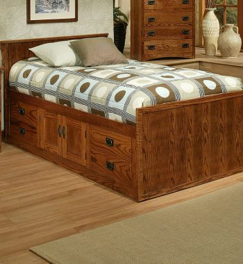 Mission Oak Twin Chest Bed