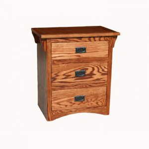 Mission Oak 3 Drawer Night Stand