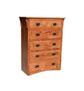 Mission Oak 6 Drawer Chest