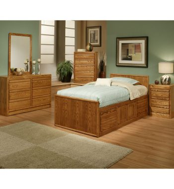 Modern Oak Youth Bedroom Set
