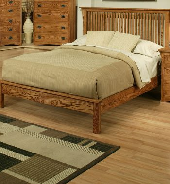 Mission Oak Rake Eastern King Bed