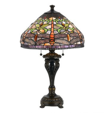 Purple Dragonfly Tiffany Table Lamp