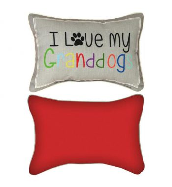 I Love My Granddogs Reversible Decorative Pillow