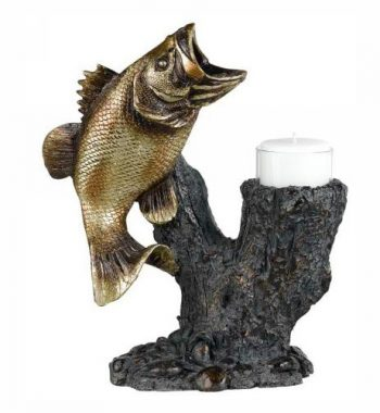 Fish Voitive - Bass Candle Holder