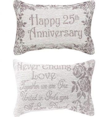 25th Anniversary Pillow