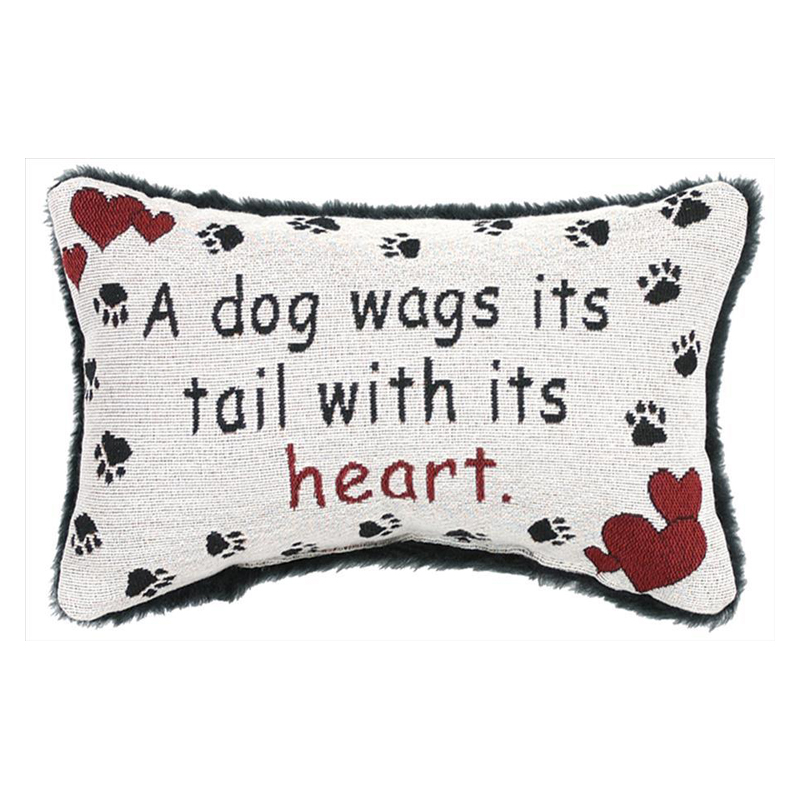 A Dog Wags Its Tail With Its Heart Pillow Barr S