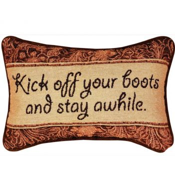 Kick Off Your Boots - Word Pillow