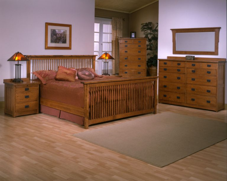 Mission Bedroom Set Red Quartersawn Oak By Trend Manor