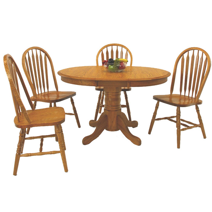 "36"" Round Oak Dining Set"
